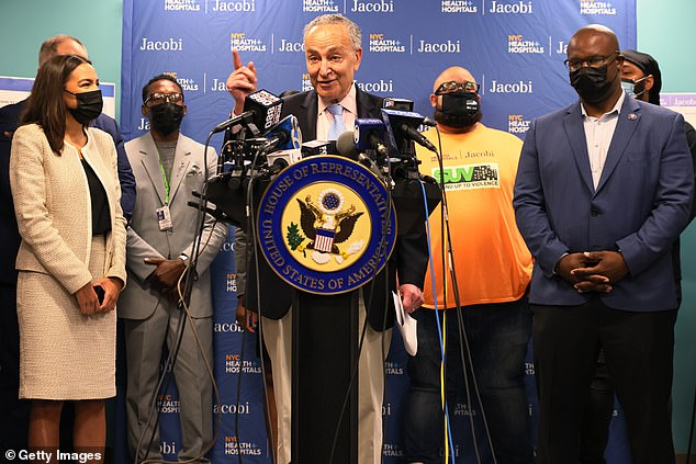 The Democratic congresswoman held a press conference Thursday alongside Senate Majority Leader Chuck Schumer and Rep. Jamaal Bowman where she spoke about a program introduced in her constituency in the Bronx reducing crime through community outreach