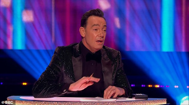 Funny:'I was extremely nervous, I really feel for the celebrities [on Strictly] ... not that I will change any of my opinions, I do feel for them as it's terrifying.' (pictured on Strictly)