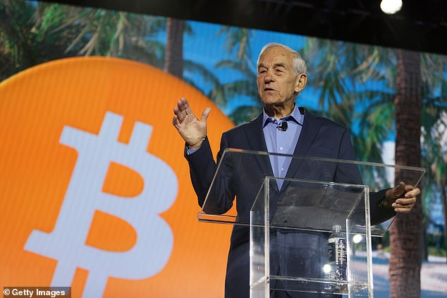Former U.S. Rep. Ron Paul (R-TX) speaks at the Bitcoin 2021 Convention.'I don't understand everything about Bitcoin, but I do understand liberty,' said Paul, 85