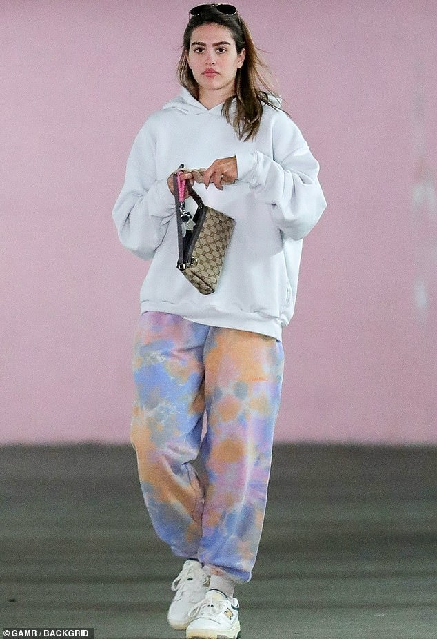 Off she goes:Amelia Hamlin, 19, proved she is stylish even in a casual outfit on her off-time when she was seen out in Los Angeles this week