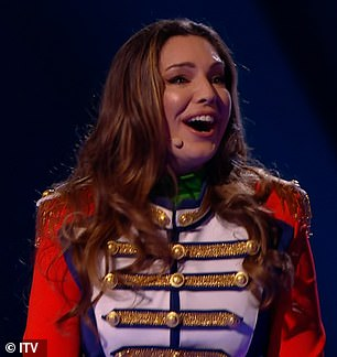 Wow! Kelly Brook was unmasked as Frog on Friday night's semi-final of The Masked Dancer