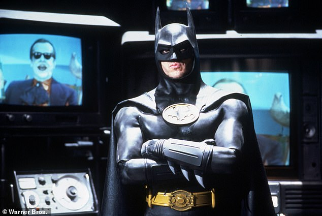 Back in the saddle: The post seemed to hint at Michael Keaton's return to the role of the Caped Crusader; he is seen playing the character in 1989's Batman