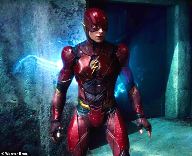 Making an impact: Ezra Miller first portrayed the Barry Allen version of The Flash in 2016 and will reprise his role in the upcoming feature