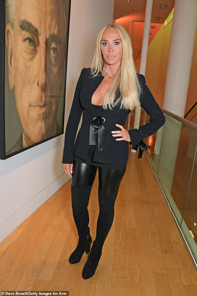 Cecilie Fredriksen attends the launch of Champagne Armand de Brignac Blanc de Noirs Assemblage Three at The National Portrait Gallery