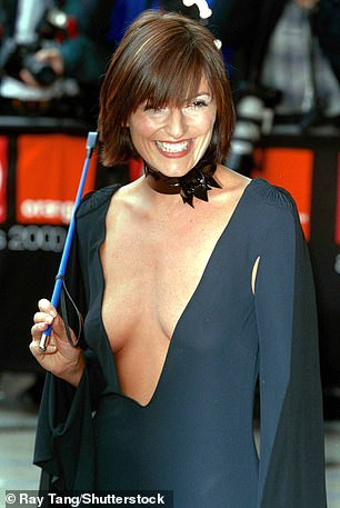 Plunge wars:The presenter, 53, who is currently starring as a judge on the ITV reality show, admitted she will have to 'work harder' with her cleavage-baring ensembles (pictured in 2000)