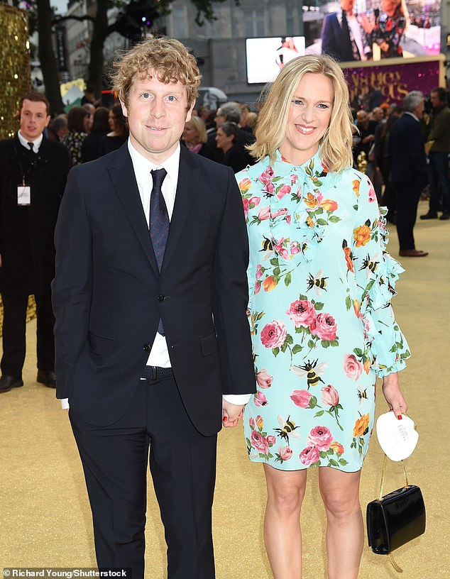 Father-of-two: The comedian, 38, who welcomed his first child into the world in 2017, confirmed his wife Rose Hanson had given birth (pictured in 2016)
