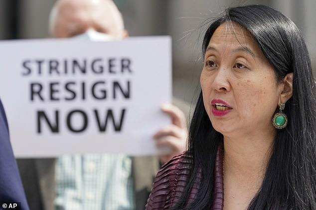 Her allegations come after Jean Kim in April claimed that Stringer, the outgoing city comptroller, had repeatedly groped her while she was an unpaid intern