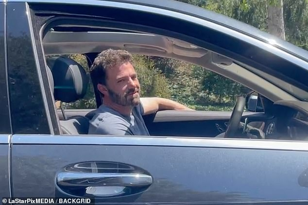 Leaving Jlo's place on Wednesday:Ben and Jen have also been seen on numerous visits to each other's abodes