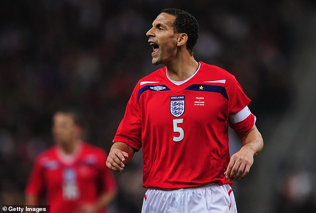 Ferdinand went on to captain England during his illustrious career and picked up 81 caps