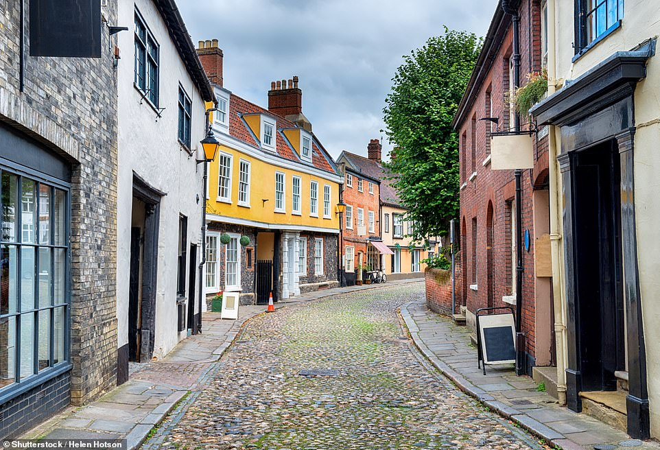Norwich'sElm Hill has been voted one of England's five prettiest streets