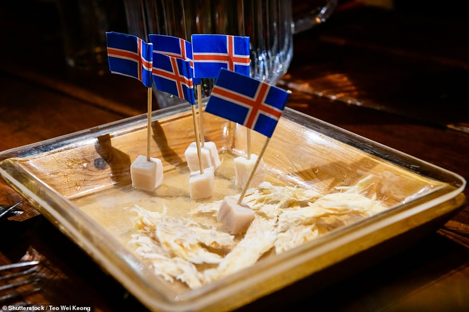 Egill Bjarnason notes that many tourists want to try fermented shark, which 'most locals stopped eating with the arrival of the refrigerator'