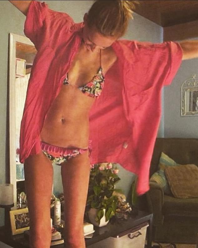 Underweight: 'These were taken during a time when I didn't treat my body with the respect I do now,' she wrote