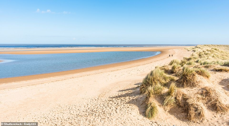 The hotel is close to the sweeping sands at Holkham, which Jane Knight says is 'surely Norfolk's best beach'