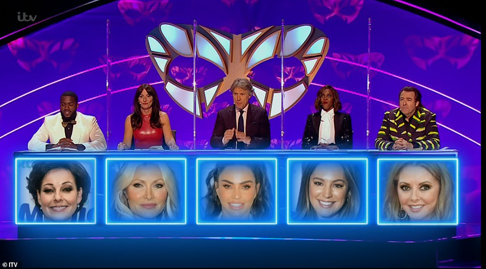Well done! Again, the only judge to guess correctly was Oti who predicted it was Kelly underneath Frog while her co-stars guessed Katie Price, Caprice and Carol Vorderman