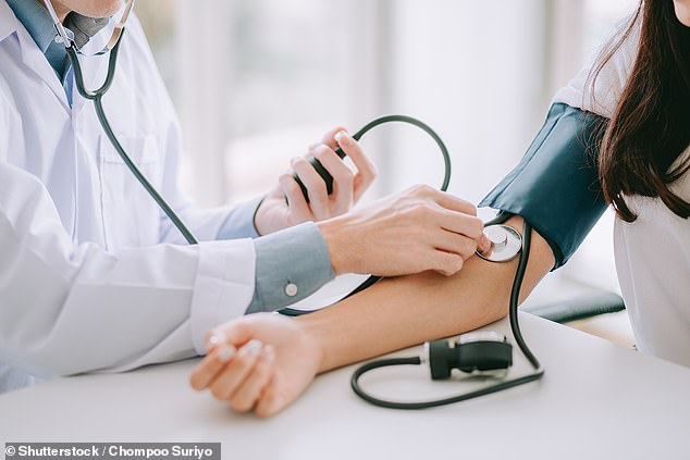 Chronic high blood pressure, or hypertension, affects one in five adults and is thought to be responsible for half of all heart attacks and strokes (file photo)