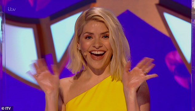 Gorgeous:The This Morning presenter, 40, looked incredible in a yellow pencil dress