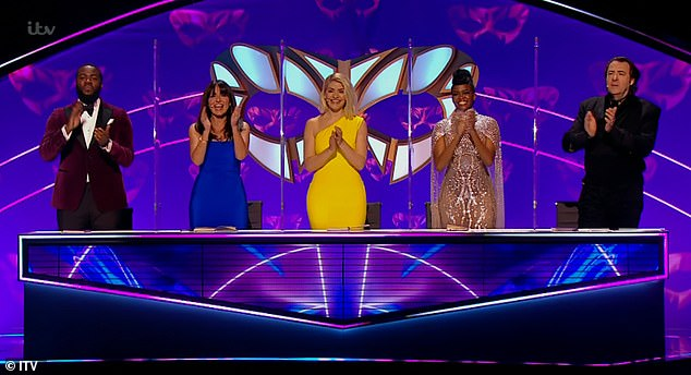 Guest judge: The 40-year-old presenter was appearing on the show alongside Davina McCall, Oti Mabuse, Mo Gilligan and Jonathan Ross