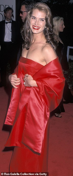 Next generation: Rowan dazzled in the red dress, which Brooke famously wore back in 1998