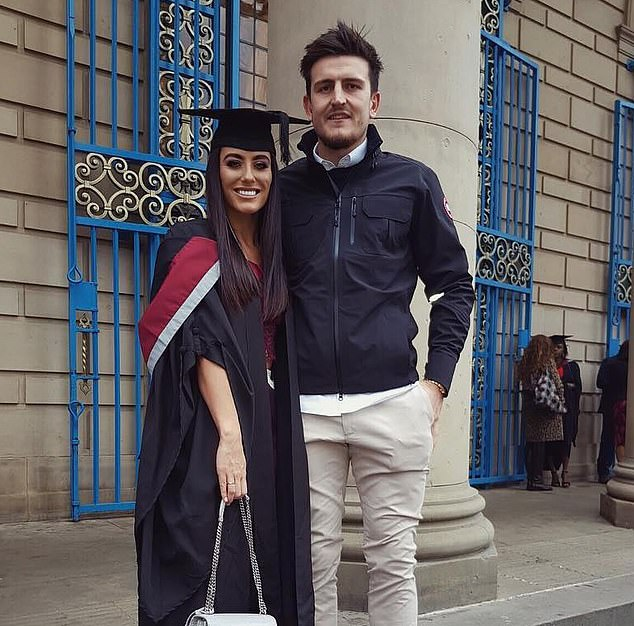 Fern Hawkins, 27, fiancee of defender Harry Maguire, has a degree in physiotherapy from Sheffield University