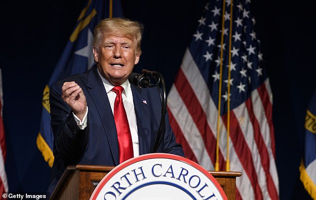 On Saturday, Trump spoke in Greenville, North Carolina reiterating his false claims that the election was stolen