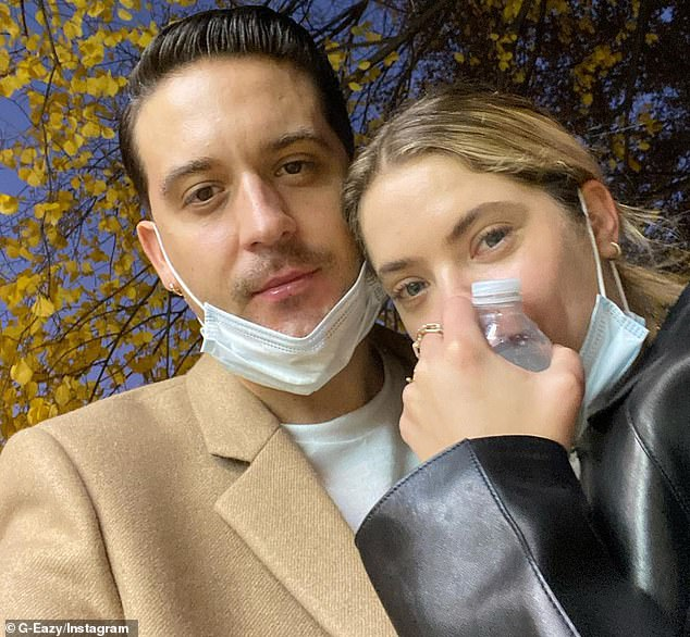 Old flame: Benson reportedly split from G-Eazy (born Gerald Earl Gillum) this past February after dating for about eight months; they are seen in December 2020