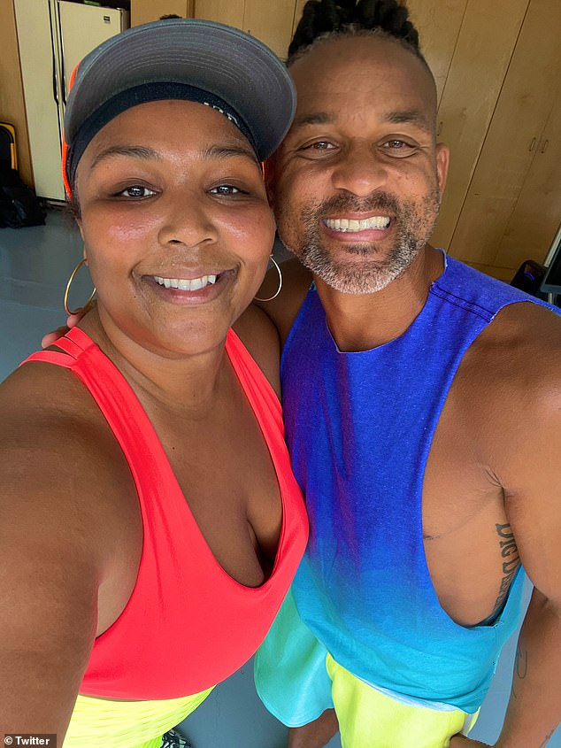 Success!'Surprising @lizzo isn't easy but thanks to the help of the amazing Chawnta - we did!' wrote Shaun T, who shared snaps with Lizzo to Twitter