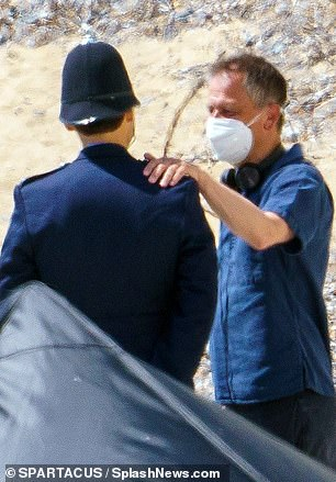 Work: He was seen chatting to the director and taking instructions