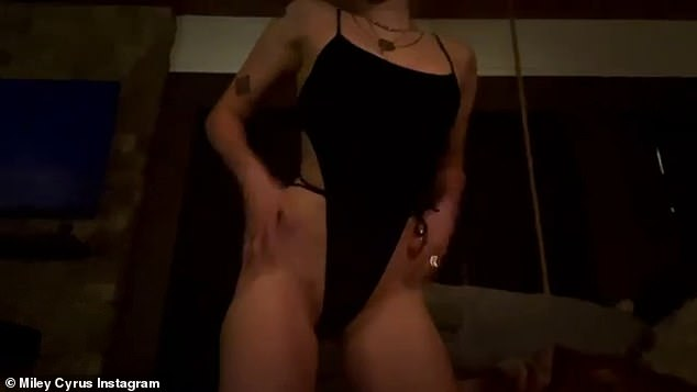 'Made ya look. Now buy tickets to Summerfest': Miley Cyrus took to Instagram with a racy video in a very skimpy bodysuit in a bid to promote her latest venture on Saturday
