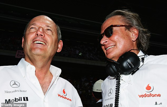 Ojjeh worked with Ron Dennis (L) after buying into McLaren and was a crucial figure for them