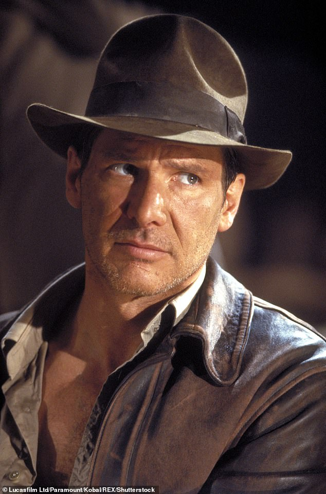 Fifth instalment: Harrison is pictured in Indiana Jones and The Last Crusade, 1989