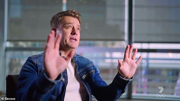 'What I saw was real': Grant Denyer, 43, claimed to have seen a UFO while driving in South East Melbourne at age 19, and admitted to have kept it a secret as he would be considered a 'wack job', on Sunday's episode of Seven's Spotlight (pictured)