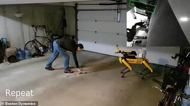 Robotics company Boston Dynamics demonstrated its robot dog Spot playing fetch with a rope toy, but at $74,500 per machine, a real dog might be the cheaper, more preferable choice