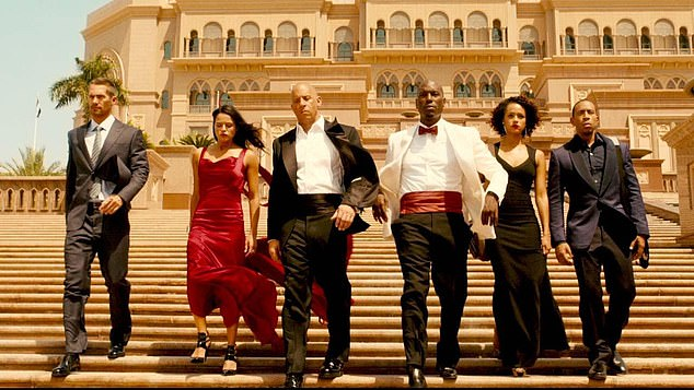 Long-running: The franchise began in 2001 and the ninth installment, Furious 9, will be released on June 25, 2021. Still from Fast & Furious 7 in 2015