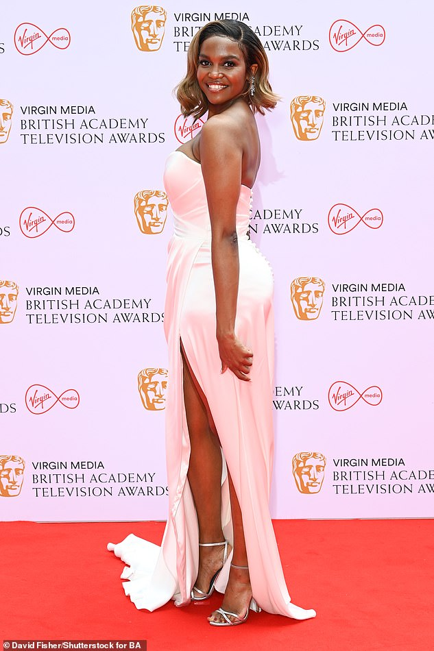 Stunner:Oti, who will reunite with Bill Bailey to present an award at this year's ceremony, styled her ombre bob into loose curls