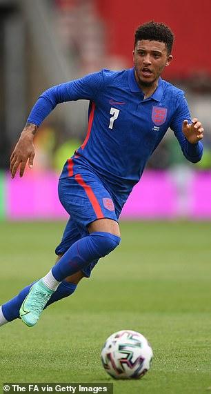 Jadon Sancho had a quiet game against Romania