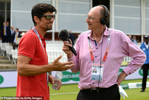 Jonathon Agnew (R) stirred humour among TMS listeners over a country cricket gaffe