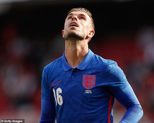 Jordan Henderson came off the bench but missed a second-half penalty for England