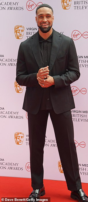 Event: Ashleywalked the star-studded red carpet at Television Centre in White City ahead of the ceremony