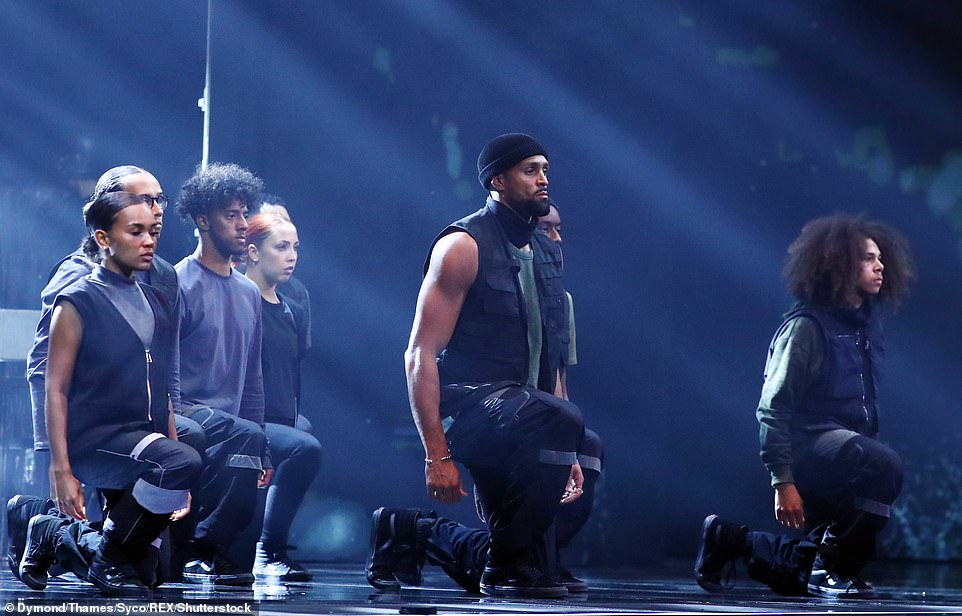 Shortlist: Diversity's controversial BGT Black Lives Matter routine, which sparked 24,000 complaints to media watchdog Ofcom (pictured) was nominated for theBAFTA's Must-See Moment