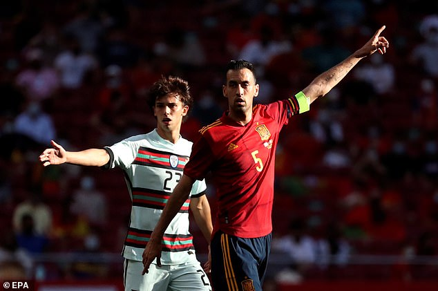 As a result of Busquets' positive test, Spain's Under-21s will now play Lithuania on Tuesday