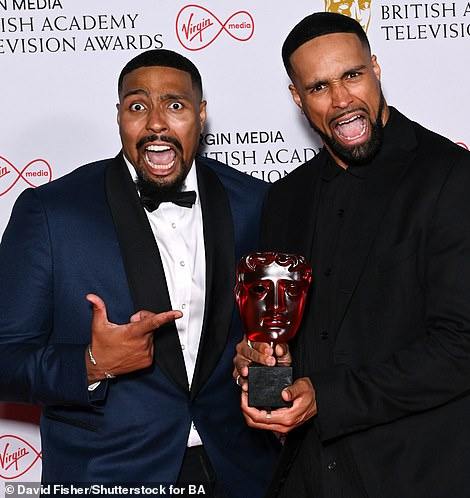 Time to celebrate! Ashley and Jordan Banjo of dance group Diversity also took home the award for Must See TV Moment for their controversial Britain's Got Talent performance of a Black Lives Matter dance