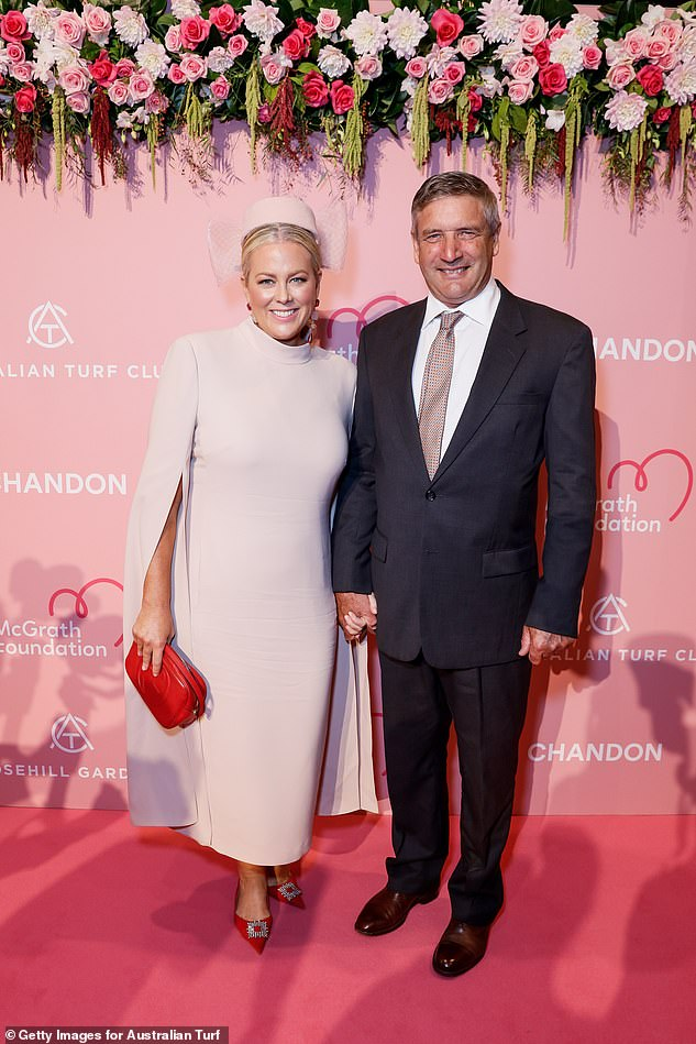Not happy: Indeed, it certainly would be an interesting read from the former Seven host, who has hit headlines multiple times over the past year following a string of stinging comments on her time in the industry. Pictured: Sam with new husband Richard Lavender
