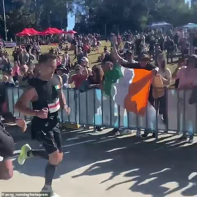 No slouch: According to the official results for the race, Farrell finished 222nd out of 682 competitors