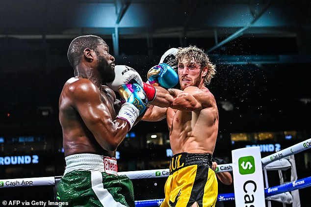 The YouTuber was outclassed in the fight but stood his ground and showed a solid chin to take Mayweather's best shots