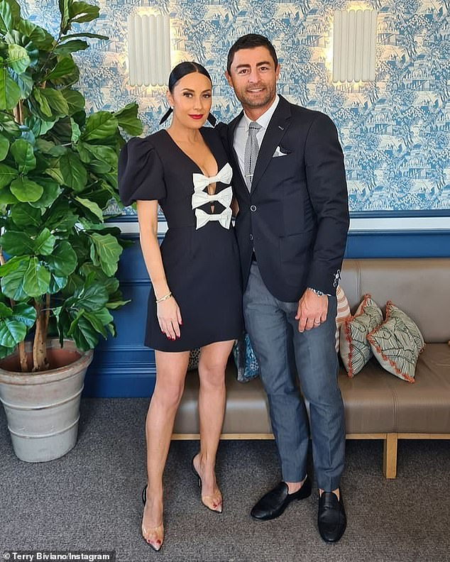 Tell-all: Anthony Minichiello spoke candidly about married life with his nine-year-old wife, Terry Biviano.  Both in the photo