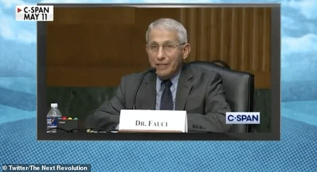 Dr Fauci has previously told Congress that the National Institutes for Health (NIH) and the NIAID has 'categorically' not funded gain of function research to be conducted in the Wuhan Institute of Virology