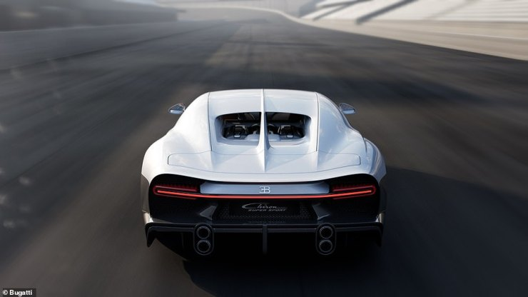 No slouch: The new Bugatti Chiron Super Sport accelerates from 0-to-249mph (400km/h) seven per cent quicker than a conventional £2.5m Chiron