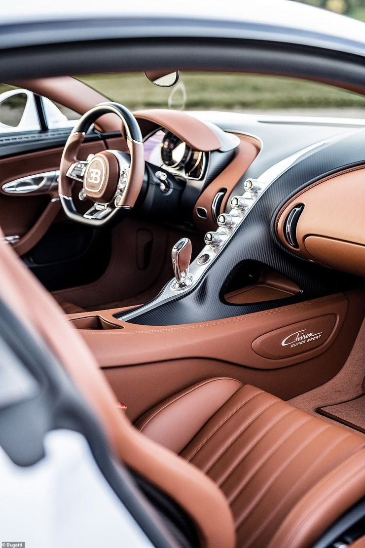 As is the case with all Bugatti models, the cabin is the most supreme luxury you're ever going to see in a car