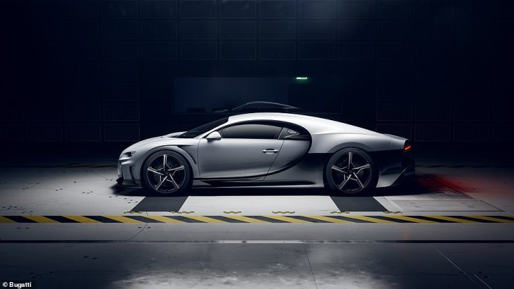 The extended bodywork is to make the car more aerodynamically efficient so it can cut through the air like a missile