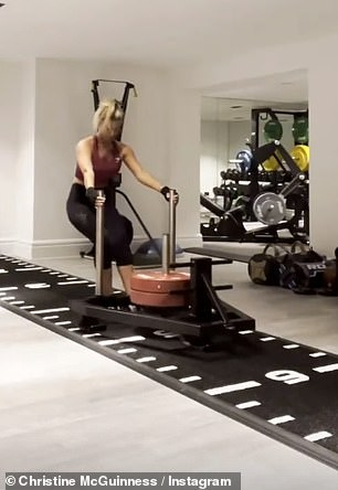 In two of her videos, she commented: 'Absolutely f****d. Ma needs a PT asap'